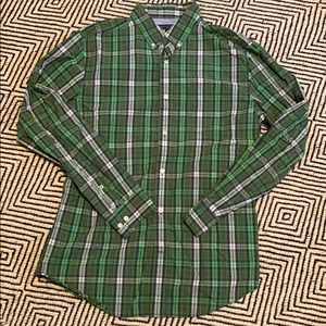 Banana republic green/blue plaid shirt